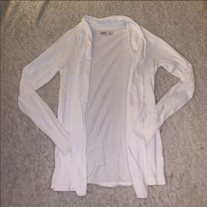 Old Navy White Open Cardigan